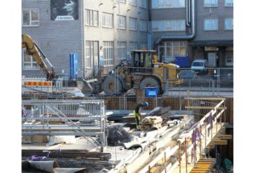 Kaupunkien rakennusjärjestys edellyttää pölynhallintaa